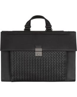 Intrecciato Panel Briefcase