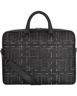 Atlas Intrecciato Leather Briefcase