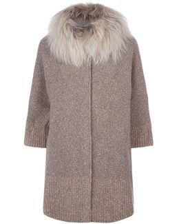 Cocoon Fur Collar Jacket