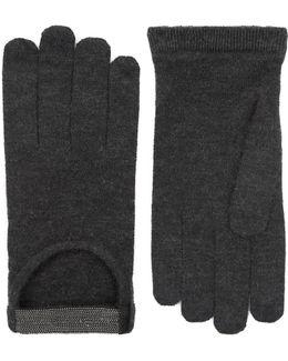 Embellished Driving Gloves