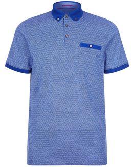 Collin Geometric Print Polo Shirt