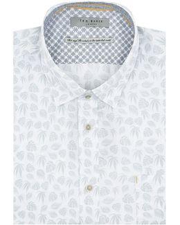Kanbo Leaf Print Cotton Shirt