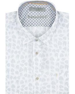 Kanbo Leaf Print Cotton Shirt