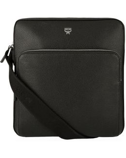 Small Grained Leather Messenger Bag