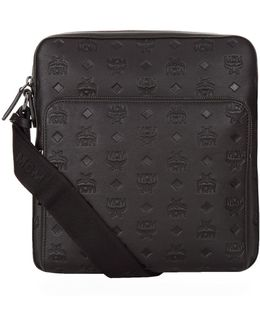 Embossed Leather Small Messenger Bag