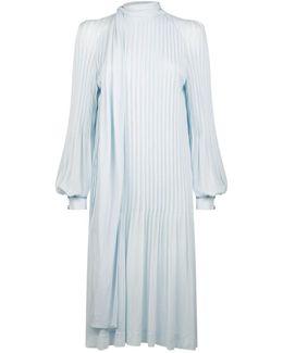 Pintuck Midi Dress