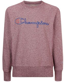 Crew Neck Embroidered Logo Sweatshirt