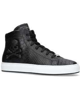 Karlson 3d Skull Python High-top Sneakers