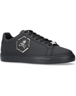 Hexagonal Skull Logo Sneakers