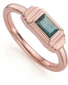 Baja Deco Labradorite Ring