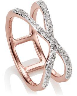 Riva Wave Cross Ring