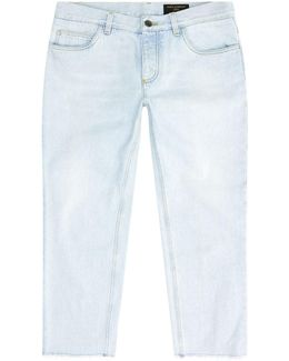Sketched Ship Cropped Jeans