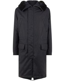 Shearling Trim Parka Coat