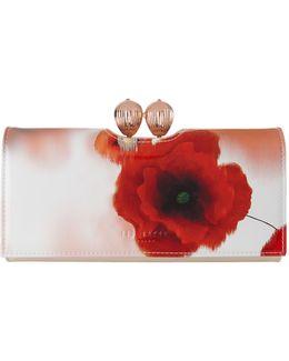 Dolcie Poppy Print Wallet