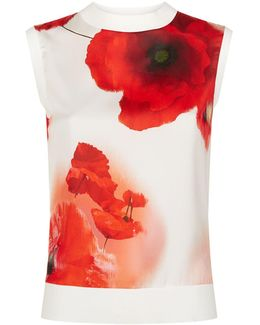 Maidai Poppy Print Top