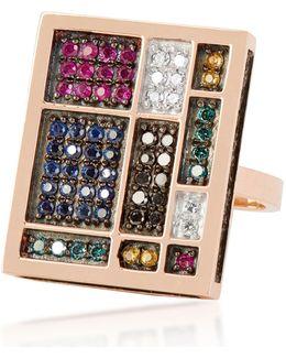 Mondrian Square Diamond Ring