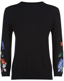 Deyzie Kensington Floral Sweater