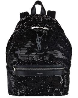 Mini City Sequin Backpack