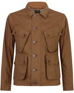 Technical Cotton Canvas Field Jacket