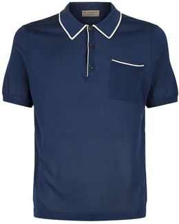 Tipped Trim Polo Top
