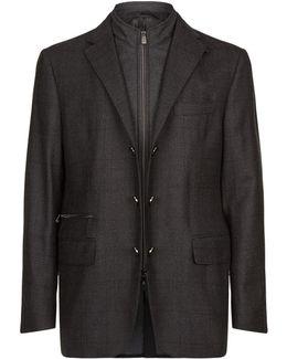 Gilet Insert Wool Jacket