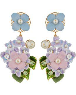 Hydrangea Clip-on Earrings