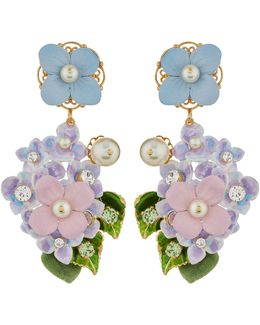 Hydrangea Clip-on Earrings
