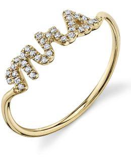Yellow Gold Mrs. Pav Diamond Ring