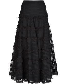 Lace Ruffle Maxi Skirt