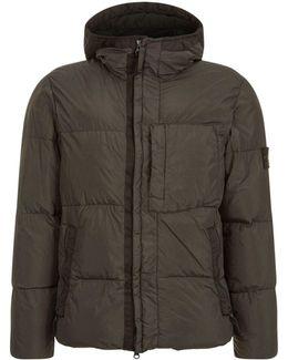Crinkle Down Hooded Jacket