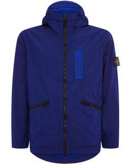 Crinkled Nylon Hooded Jacket