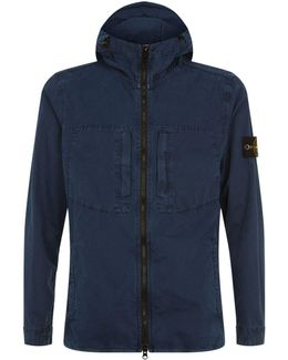 Hooded Waxed Cotton Jacket