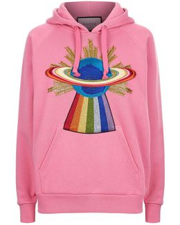 Embellished Hooded Sweatshirt