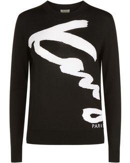 Signature Logo Fine Knit Sweater
