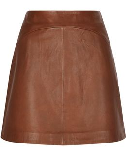 Cammie Leather A-line Skirt