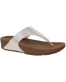 Lulu Shimmy Lizard Sandals