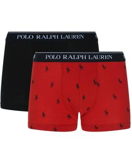 Logo Print Trunks (two-pack)