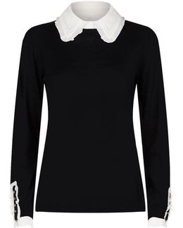 Knit Jumper With Collar