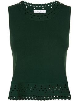 Cut-out Detail Knitted Vest