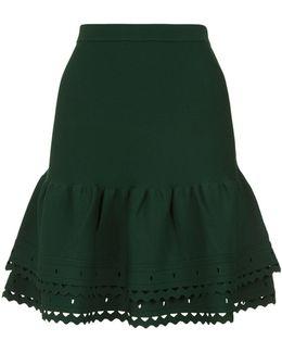 Cut-out Detail Knit Skirt