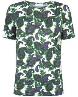 Paisley Print Cotton T-shirt