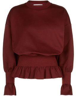 Ruffled Waist Sweatshirt