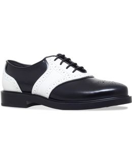 Perforated Leather Lace-up Shoes
