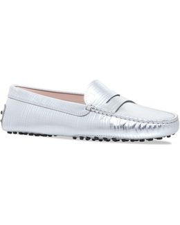 Metallic Moccasino Driving Loafers