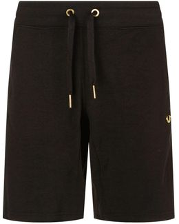 Gold Metal Logo Sweat Short