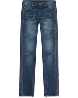 Mick Mid-wash Biker Jeans