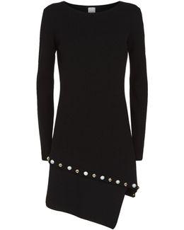 Embellished Stretch Knit Dress