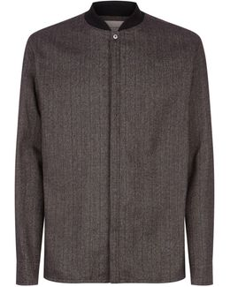 Woven Jersey Collar Shirt