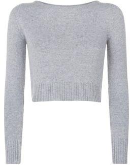 Cropped Virgin Wool Sweater