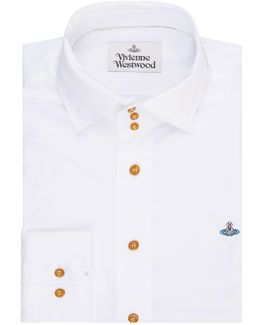 Three-button Shirt With Orb